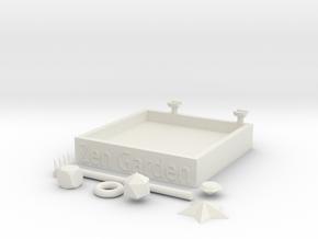 ZEN Garden - 5 x 5 in in White Natural Versatile Plastic