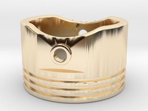 Piston Ring - US Size 10 in 14k Gold Plated Brass