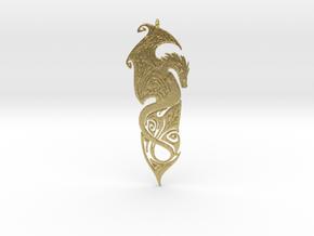 Dragon pendant in Natural Brass