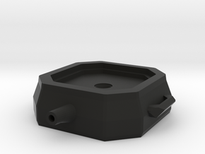 1/10 Scale Oil Change Pan with reservoir and funct in Black Natural Versatile Plastic
