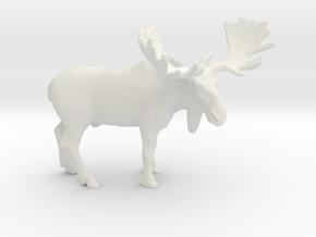 O Scale Moose in White Natural Versatile Plastic