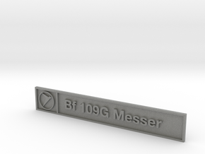 Bf 109G Plaque in Gray Professional Plastic