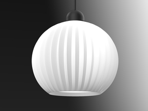 Ray Lantern 1 in White Natural Versatile Plastic