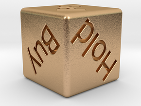 Investor's Dice in Natural Bronze