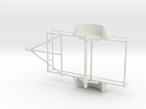 1/10 SCALE UTILITY TRAILER FRAME in White Natural Versatile Plastic