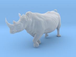 White Rhinoceros 1:20 Running Male in Smooth Fine Detail Plastic