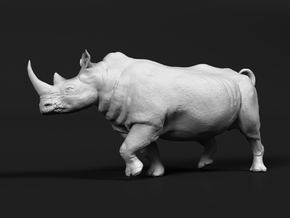 White Rhinoceros 1:72 Running Male in Smooth Fine Detail Plastic