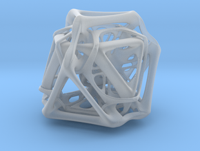 Ported looped Tetrahedron Plastic 5.6x4.8x5.3 cm in Smooth Fine Detail Plastic