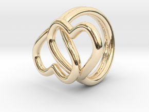 Knotted Hearts Ring in 14k Gold Plated Brass: 4.5 / 47.75