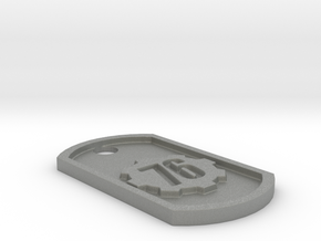 Fallout 76 Themed Dog Tag in Gray Professional Plastic