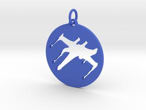 X-Wing Pendant  in Blue Processed Versatile Plastic