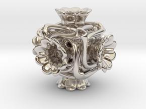 Cubeoctahedral flower  in Platinum