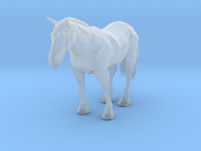 HO Scale Clysdale Horse in Smooth Fine Detail Plastic