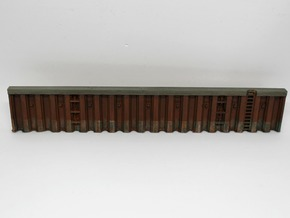 N Quay Wall Sheet Piling H25L142.5 in Smooth Fine Detail Plastic