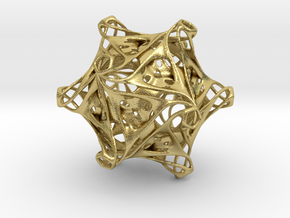 Icosahedron modified organic  in Natural Brass