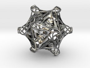 Icosahedron modified organic  in Polished Silver