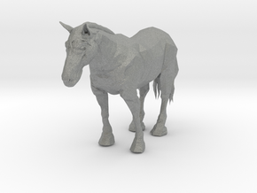S Scale Clysdale Horse in Gray Professional Plastic