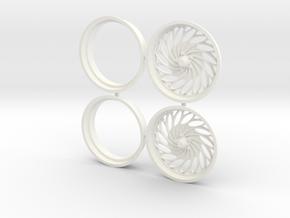 "Swirl 1/8 drag front pr 17"" in White Processed Versatile Plastic"