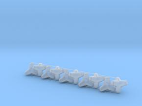 Tetrapod - 0.5 ton size (x10) in Smooth Fine Detail Plastic: 1:64 - S