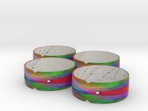 Sundian Bangles 21S, 32S, 46N (x2) in Natural Full Color Sandstone
