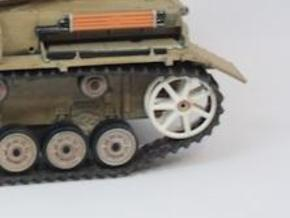 Panzer IV Tubular Idler Wheels x2 - 1:18 - v1.1 in White Strong & Flexible Polished