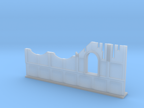 Basic Ruined Wall with Window 28mm in Smooth Fine Detail Plastic