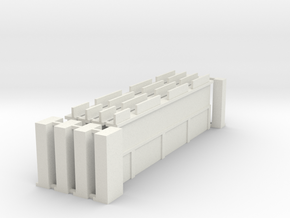Wall Extension Set in White Natural Versatile Plastic