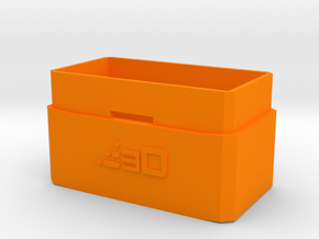 20mm Extension for MP5 PEQ Battery Box in Orange Processed Versatile Plastic