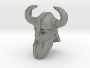 dwarf head 3 with helmet in Gray PA12