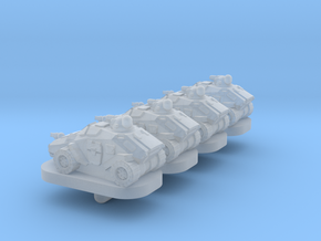 Brumby Light Wheeled Armor - 3mm in Smooth Fine Detail Plastic