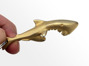 Shark Bottle Opener in Matte Gold Steel