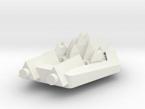 PH106 Arkaz Torpedo Frigate in White Natural Versatile Plastic