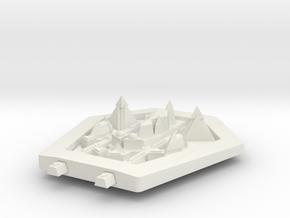PH204 Ortukat Electronics Warfare Cruiser in White Natural Versatile Plastic