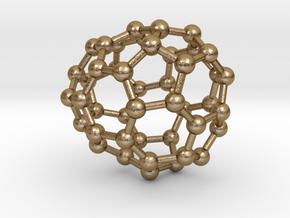 0670 Fullerene c44-42 c1 in Polished Gold Steel