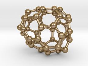0671 Fullerene c44-43 c1 in Polished Gold Steel