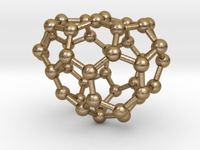0672 Fullerene c44-44 c1 in Polished Gold Steel