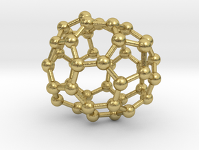 0673 Fullerene c44-46 c1 in Natural Brass