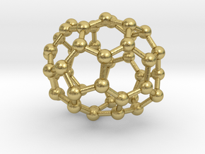 0677 Fullerene c44-49 C1 in Natural Brass