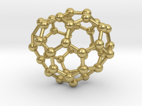 0678 Fullerene c44-50 c1 in Natural Brass