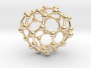 0678 Fullerene c44-50 c1 in 14k Gold Plated Brass