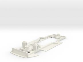 Chassis for Scalextric Porsche 911 GT1 EVO in White Natural Versatile Plastic