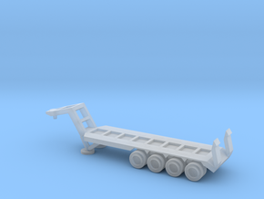 1/220 Scale M747 Semitrailer Low Bed in Smooth Fine Detail Plastic