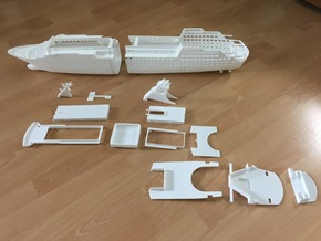 MS Arkona, Superstructure (1:200, RC) in White Natural Versatile Plastic