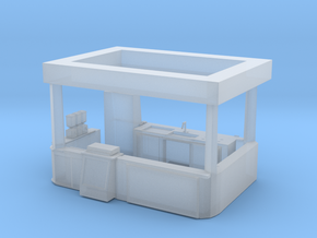 O Scale Food Stand in Smooth Fine Detail Plastic