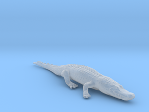Alligator Relaxing in Smooth Fine Detail Plastic: 1:87 - HO