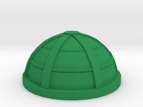 Game Piece, Larger Habitat Dome, 40mm in Green Processed Versatile Plastic