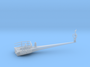 1/96 IJN Yamato Antenna Yard Arm Starboard in Smooth Fine Detail Plastic