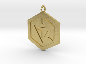 Ingress Pendant in Natural Brass