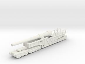 12 inch gun mk 9 railway artillery  1/160 in White Natural Versatile Plastic