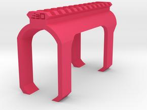 Shotgun Receiver Picatinny Rail (Clip On) in Pink Processed Versatile Plastic